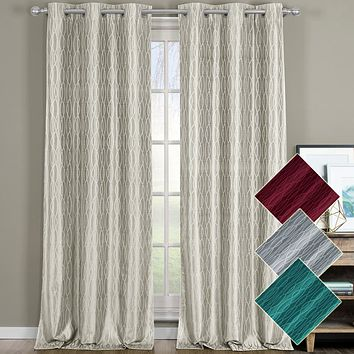 Voyage Thermal Blackout Grommet Curtain Panels (Set of 2)