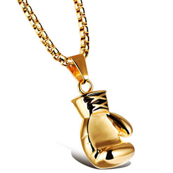 Stainless Steel Boxing Glove Pendant