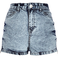 River Island Womens Acid wash high waisted Nori denim shorts