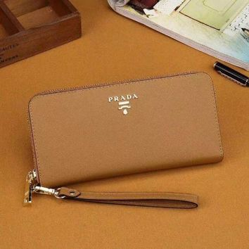 PEAPJ3V Prada Women Fashion Leather Zipper Wallet Purse-15