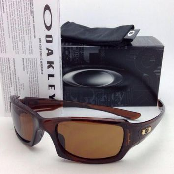 New OAKLEY Sunglasses FIVES SQUARED OO9238-07 Rootbeer Frames with Bronze Lenses