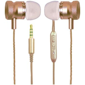 Billboard BB571 Stereo Earbuds with Microphone (Gold)