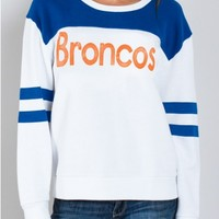 Junk Food Clothing - NFL Denver Broncos Sweatshirt - NFL - Collections - Womens