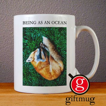 Being as An Ocean Sleeping Fox Ceramic Coffee Mugs
