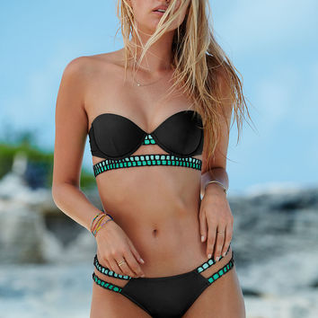 The Crochet-trim Flirt Bandeau - Victoria's Secret Swim - Victoria's Secret