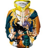 Classic Anime Dragon Ball Z Hooded Sweatshirts Men Women Long Sleeve Outerwear Sportswear Vegeta/Goku 3D Sweatshirt Hoodies