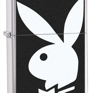 Zippo Playboy Classic Brushed Chrome Lighter
