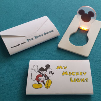 My Mickey Light - LED credit card light - Great Disney Cruise Fish Extender FE Gift!