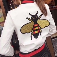 Gucci Bee embroidered jacket-1