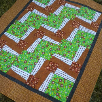 Baseball baby quilt, Sports crib quilt, baseball toddler quilt, sports themed nursery, brown green quilt, boy crib quilt, baseball bedding