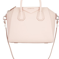 Givenchy - Small Antigona bag in pastel-pink textured-leather