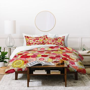 Sharon Turner Coral Garden Duvet Cover