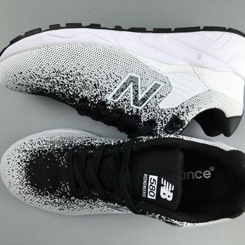 PEAPNV cxon new balance nb580 flyknit breathable white black for women men running sport casual shoes sneakers