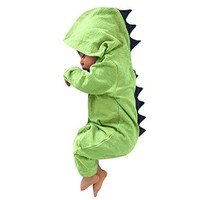 Dinosaur Costume for Baby, Misaky Newborn Boy Girl Hooded Romper Jumpsuit Outfits Clothes for 3-18 Months