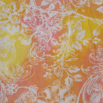 Batik fabric in orange pink yellow white FAT QUARTER 100% cotton