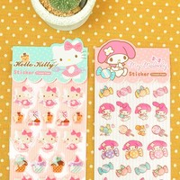 Hello Kitty My Melody Capsule Stickers Decoration Decor Stickers Gift 2 Sheets