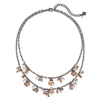 Simply Vera Vera Wang Bead Multistrand Necklace (Pink)