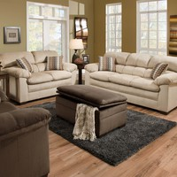 Simmons 3685 Lakewood Doe Sofa and Loveseat