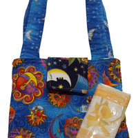 Little Purse in Laurel Burch Celestial Prints
