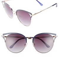 BP. 55mm Colored Round Sunglasses | Nordstrom