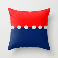 Red White and Blue Pillows Decorative Pillows with Faux Down Insert Retro Design Pillows Pop of Color Pillows Three Color Pillows Fun Pillow
