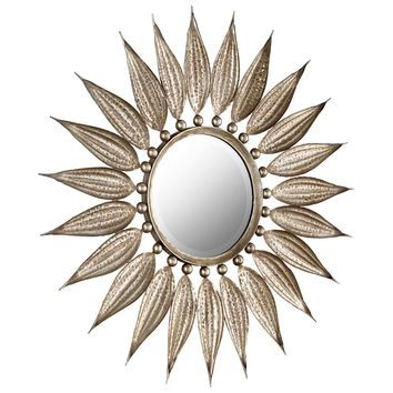 Sunflower Reflections Starburst Round Wall Mirror by Cyan Design