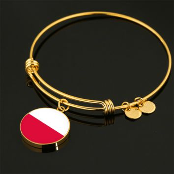 Polish Pride - 18k Gold Finished Bangle Bracelet