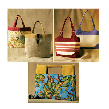 Women's HANDBAG PURSE PATTERN Fabric Handbag Butterick 3799 p317 Accessories Craft Sewing Patterns UNCuT Beach Bag Market Bag Pattern