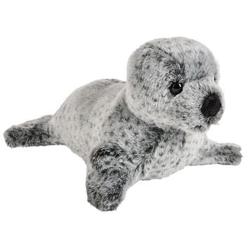 12 Inch Stuffed Spotted Seal Plush Floppy Animal Kingdom Collection
