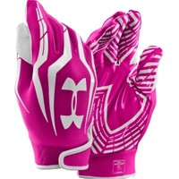 Under Armour Adult F3 Pink Receiver Gloves