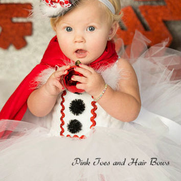 Snowman tutu Dress- Christmas tutu dress- frosty the snowman costume-frosty the snowman dress
