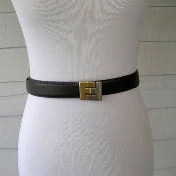 DCCKG6WU Fendi Vintage Leather Belt