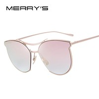 MERRY'S Vintage Twin Beam Metal Frame Sunglasses S'8014 - UV400