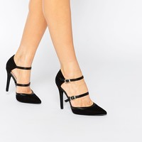 New Look Double Strap Heeled Court Shoe at asos.com