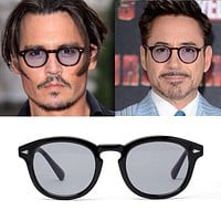 Vikulsi Super Star Sunglass Men 2016 Vintage Fashion Sunglasses Women Brand Designer Johnny Depp Rivet Sun Glasses Oculos de sol