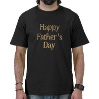 Golden Happy Father's Day Text Design Tees from