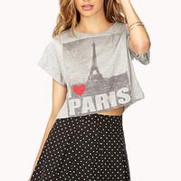 I Love Paris Cropped Tee