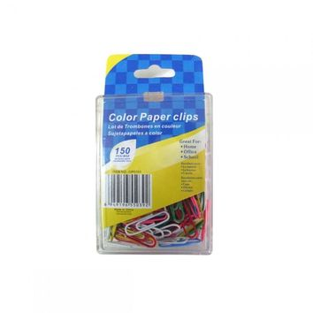 Colored Paper Clips, Pack Of 150 UU552