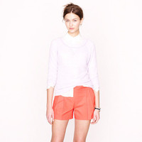 Pleated short in structured cotton - novelty - Women's shorts - J.Crew