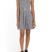 Juniors Geo Print Skater Dress - Juniors - T.J.Maxx