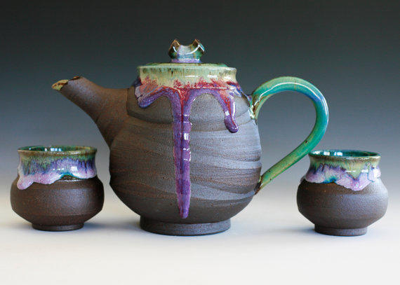 Handmade Ceramic Tea Set By Ocpottery On From Ocpottery On