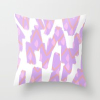 Spring Purple - Abstract Throw Pillow by Allyson Johnson | Society6