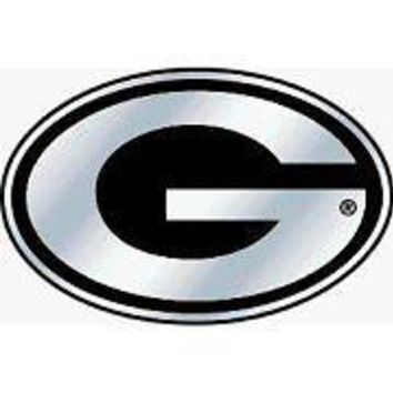 Georgia Bulldogs Chrome Emblem Decal Football Baseball