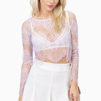 Oh So Lacey Crop Top