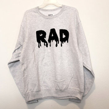 ash grey rad unisex sweatshirt medium