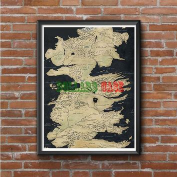Westeros Map Photo Poster