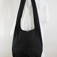 USA SHIPPING**Black Cotton Hippie Boho Hobo ,Cross body Bag,,Cross body Bag, Shoulder Messenger Bag E-CB05
