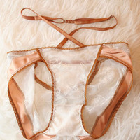 Luna Strapped In Panty in Honey Blush ✨SOLD OUT✨