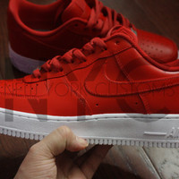Nike Air Force 1 Lows Red Custom Men & Kids