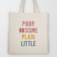 Jane Eyre Tote Bag by LitPrints | Society6